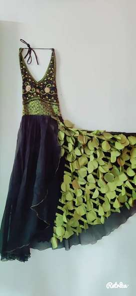 Black & Green Party Gown