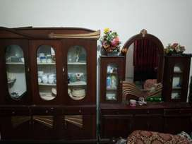 a one condition showcase , dressing table  fresh condition