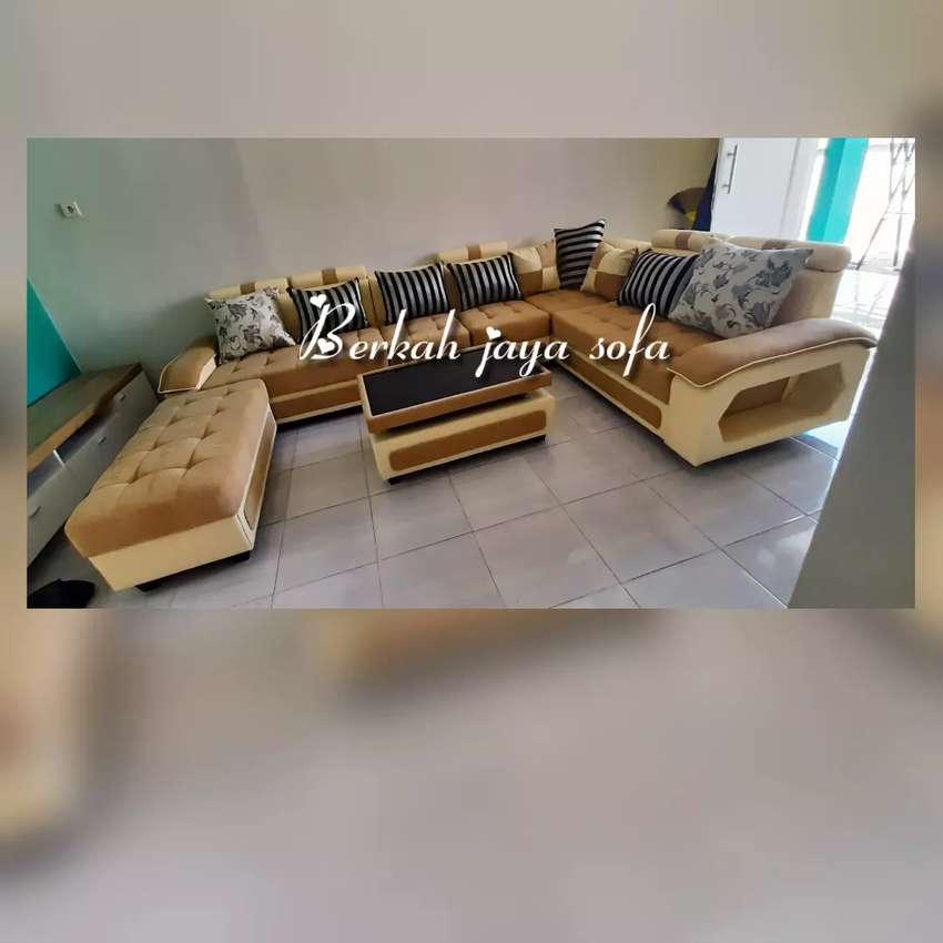 sofa sudut u minimalis