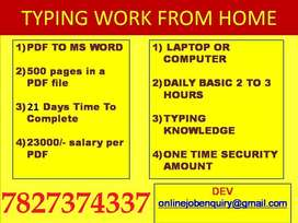For E-BOOK project. We need Some typist. If you want then join us