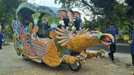 jual odong 2 kereta kencana Garuda pancingan elektrik DO