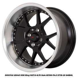 Velg Racing HSR Dogiyai Ring 16 Untuk Mobil Datsun Go