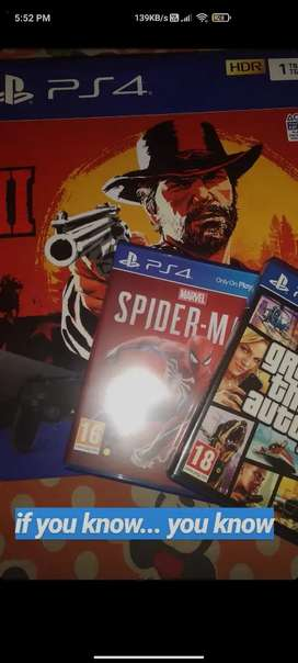 PS4 SLIM 1TB with 6 games FREE