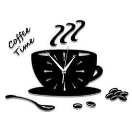 Taffware Jam Dinding Quartz Creative Design Model Coffee Cup - NS008 -