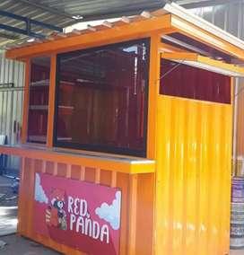 MURAH ! Booth dagang, gerobak, kontainer, semi container, etalase