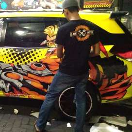 cutting stiker full body bandung team professional