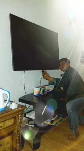pasang dan jual bracket tv led lcd untuk gantungan pengait di tembok