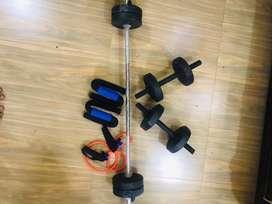 Gym equipment dumble set