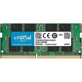 Ram 4 gb Crucial  DDR4 2666Mhz SODIMM Laptop RAM