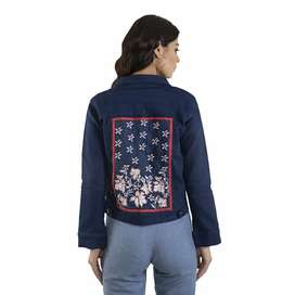 Best hot seller denim embroidered jacket availables