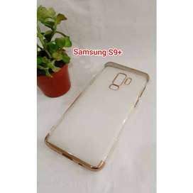 Case Transparant Bening Samsung S9Plus List Warna Gold