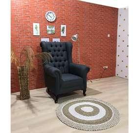 Sofa Ruang Tamu Modesty 1 Seater Wing Chair Luna
