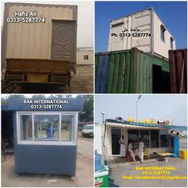 20 feet office container prefab house porta cabin guard room shipping
