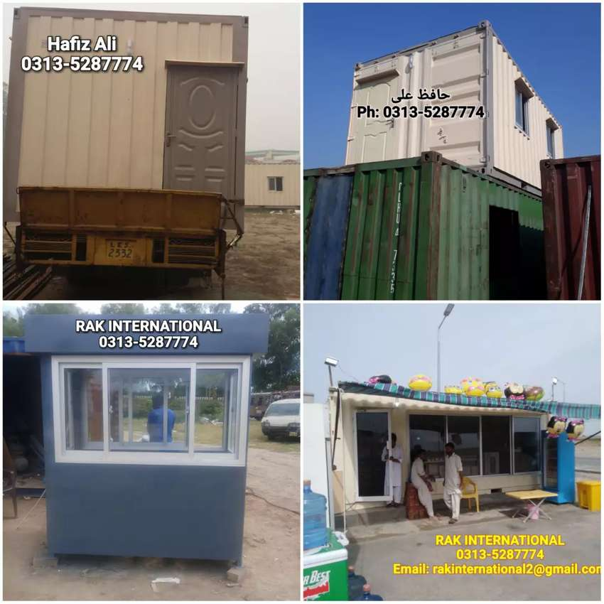 20 feet office container prefab house porta cabin guard room shipping 0