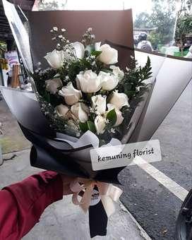 Buket Bunga Mawar Asli Segar 15 Tangkai Kirim Se-Jawa Timur
