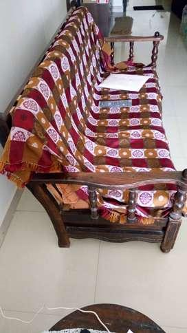 Rosewood sofa set 3(6ft)+2=5 seat