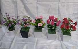 Bunga meja cantik dan mumer