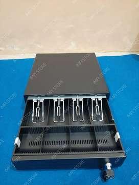 Cash drawer / laci kasir bisa buka otomatis full metal 5 slot murah