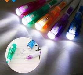 Pulpen pena LED lampu senter