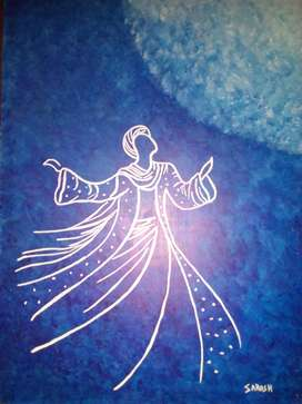 Sufi Whirling Acrylic painting