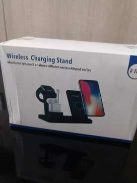 Unused SpazyCase iPhone 3-in-1 wireless charging stand