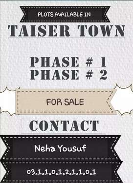 TAISER TOWN PHASE 1&2 Plots Available