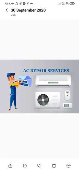 Ac service at 300 only in chennai all over