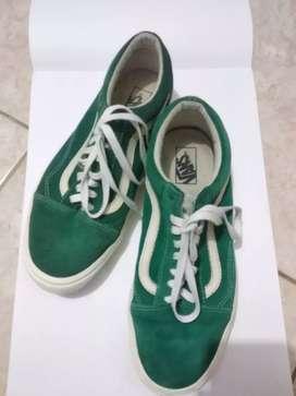 Vans ORI green/white (edisi pemakai gatau jenis vans)