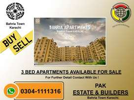 3 Bed Apartment Available In Bahria Town Karachi