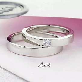 Aksesoris cincin nikah couple palladium terupdate