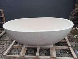 Bathtub Handmade Terazzo Mewah dan Elegan Tipe Oval P170cm