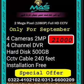 Cctv Cameras installation and maintenance only 700