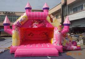 Jumping castle and balloons decoration
