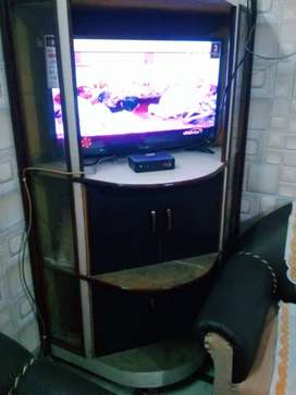 Wooden TV corner cum wadrobe(triangular shape)