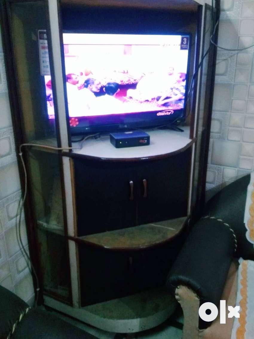 Wooden TV corner cum wadrobe(triangular shape) 0