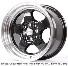 velg ready di toko JD5290 HSR R15X7-8 H8X100-114,3 ET40-33 GBML