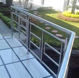 Reling tangga stenlis steel dan balkon $2704
