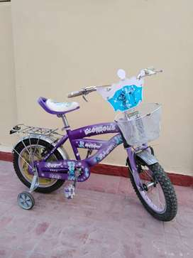 Bicycle with training wheels, can be removed if not required
