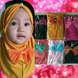 Hijab Anak Pita Mutiara