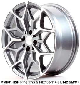 velg mantap MYTH01 HSR R17X75 H8X100-114,3 ET42 GMf