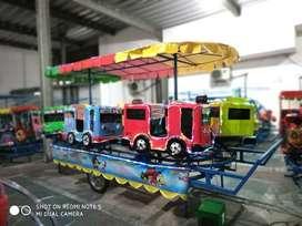 Jual wahana mainan odong kereta mini panggung TAYO fiber RAA