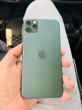 Iphone 11 pro max mid night green 64gb