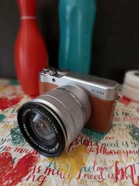 Kamera Miroles fujifilm X-A10 brown maroon