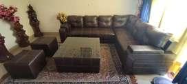 7 seater leather sofa set