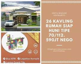 Rumah dijual minimalis modern jalan godean km 8 sidokarto godean