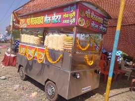 Steel food van. Bhel gada