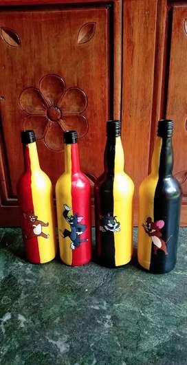 Tom and  bottle art