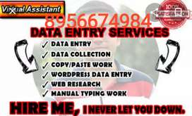 Part time data entry work available for student and house wife