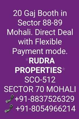 20 Gaj Booth in Sector 95 A Mohali. Flexible Payment