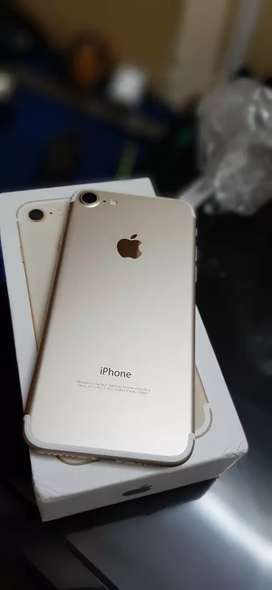 Apple iphone 7 128gb box pack gold colour